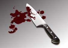 Sangue da faca do cozinheiro chefe Foto de Stock
