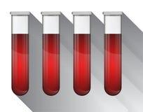 Sangue diferente na ilustração do tubo de ensaio Imagem de Stock Royalty Free