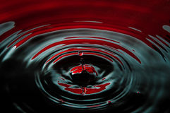 Sangue e gota do petróleo Imagens de Stock