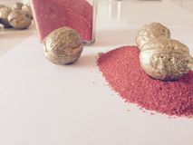 Sangue e ouro Imagens de Stock Royalty Free