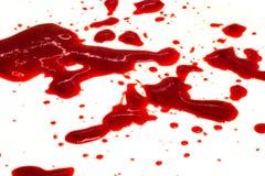 Sangue na tela Fotografia de Stock