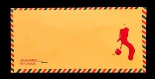 Sangue no correio Imagens de Stock