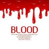 Sangue senza cuciture di gocciolamento Illustrazione di concetto di vettore di orrore illustrazione vettoriale