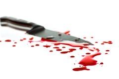 Sangue Splattered Fotos de Stock