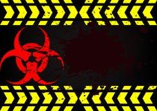 Sangue sporco di bio- simbolo di rischio Fotografia Stock