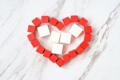 Sangue Sugar Concept del cuore fotografia stock