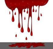 Sangue sulla parete Fotografie Stock