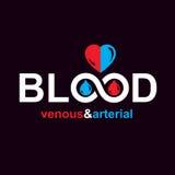 Sangue venoso arterioso e, vettore concettuale i di circolazione sanguigna illustrazione vettoriale