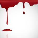 Sangue vermelho de gotejamento. ilustração royalty free