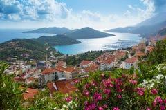 Sanguinaire Inseln und Parata ragen in Korsika, Frankreich hoch Stockfotos