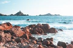 Sanguinaires-Inseln in Korsika - Frankreich lizenzfreies stockbild