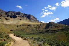 Sani-Durchlauf Lesotho Südafrika Drakensberge stockbilder