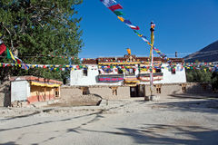 Sani kloster, Padum-Zanskar, Ladakh, Jammu and Kashmir, Indien Arkivbild