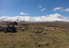 Sani pass to Lesotho Royalty Free Stock Photo