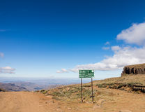 Sani pass to Lesotho Stock Photography