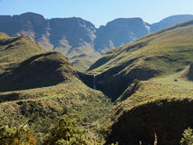 Sani pass to Lesotho Royalty Free Stock Images