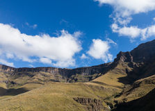Sani pass to Lesotho Stock Images
