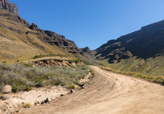 Sani pass to Lesotho Royalty Free Stock Photos