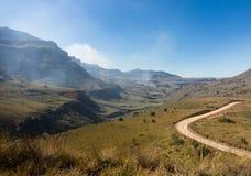 Sani pass to Lesotho Stock Image