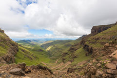 Sani Pass view from above. South Africa Stock Photo