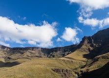 Sani passerande till Lesotho Arkivbilder