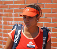 Sania Mirza. Tennis player from India. Current (as of 28 May 2012) rankings WTA: singles: 185; doubles: 10. Winner of the 2012 Brussels Open in doubles Royalty Free Stock Photography