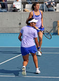 Sania Mirza (IND) and Sorana Cirstea (ROU) Royalty Free Stock Images
