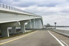 Sanibel Causeway And Bridge in Florida royalty free stock images