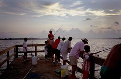 sanibel för fiskeöpir Fotografering för Bildbyråer