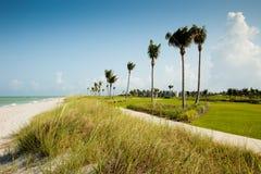 Sanibel Golf und Strand stockfotos