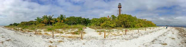 Sanibel Island beach is famous for the conches, Florida.  royalty free stock image