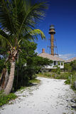 Sanibel Island Lighthouse. The historic Sanibel Island Lighthouse in South Florida stock photos