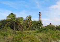 Sanibel Island or Point Ybel Light in Florida royalty free stock photos