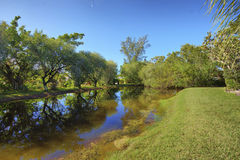 Sanibel Island private pond with reflection Stock Images