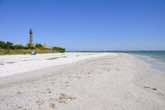 Sanibel Island Sandy Coast Royalty Free Stock Photo