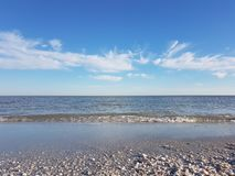 Sanibel Island scenery. Beautiful Gulf of Mexico scenery on Sanibel Island, Florida royalty free stock images
