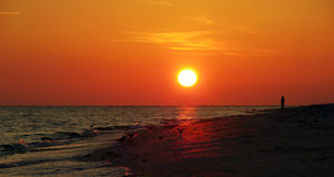 Sanibel Island Sunset stock photography
