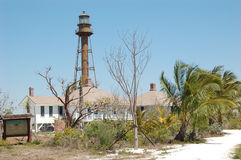Sanibel Light. The lighthouse at the south end of Sanibel Island, Florida stock image