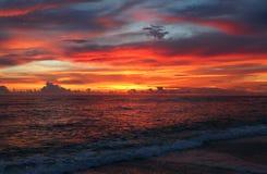 Sanibel solnedgång Arkivbild