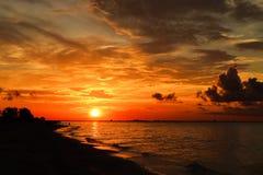 Sanibel soluppgång royaltyfria foton