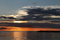 Sanibel-Sonnenuntergang Stockfotografie
