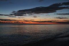 Sanibel-Sonnenuntergang stockbilder