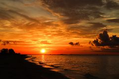 Sanibel sunrise royalty free stock photos
