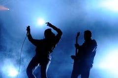 Sanie Dzwonów zespół wykonuje przy San Miguel Primavera dźwięka festiwalem Zdjęcia Stock