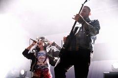 Sanie Dzwonów zespół wykonuje przy San Miguel Primavera dźwięka festiwalem Zdjęcie Royalty Free