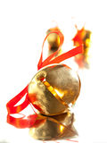 Sanie dzwon z czerwonym tasiemkowym łękiem Fotografia Royalty Free