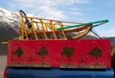 Sanie używać dla mushing w Alaska zdjęcia stock