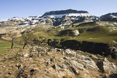 Sanipas, Drakensbergen, Zuid-Afrika royalty-vrije stock afbeelding