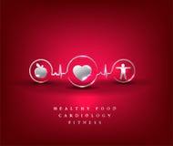 Sanità del cuore, simbolo di salute Immagine Stock Libera da Diritti