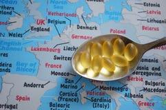 Sanità di Europa, fine su fotografia stock libera da diritti